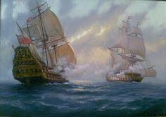 Во время морского сражения в XVIII веке