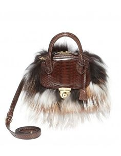 Salvatore Ferragamo Mini Fox Fur Bag - Shop more of the hottest trends to wear in your 30s: http://shop.harpersbazaar.com/in-the-magazine/fabulous-at-every-age