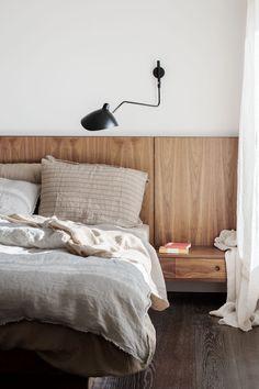 Wood Headboard, Wood Bedroom, Bedroom Decor, Bedroom Ideas, Custom Headboard, Modern Headboard, Headboard Ideas, Bedroom Styles, Headboard Designs