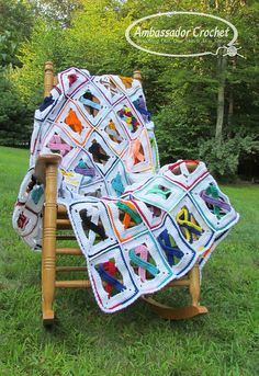 Awareness Ribbon Afghan By Kristine Mullen - Purchased Crochet Pattern - (ravelry)