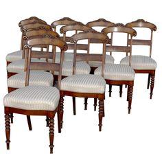 1stdibs.com | Set 10 Late Beidemeier Dining Chairs