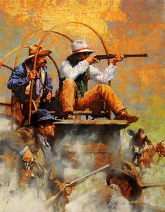 CM Dudash western art prints are offered on either canvas and quality Fine Art paper. Bitterroot Frames gives you the choice of getting your giclée. Frederic Remington, Westerns, Vintage Collage, Cowboy Pictures, Cowboy Art, Western Cowboy, West Art, Le Far West, Mountain Man