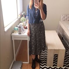 Gatsby style long skirt Brand new gastby style long skirt. Never worn. The bottom is uneven shape. Really pretty. Hollister Skirts