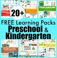 I am over the moon excitedto finally gather all of my learning packs for preschool and kindergarten into ONE SPOT, making them easy to find and access when you need them! I have just at 20 FREE learning packs, butthere are more activity packs, like our Cut it Out! Packs,Alphabet Grid Pack, and Open-Ended Alphabet …