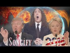 "The final debate between Donald J. Trump and Hillary Clinton opens up a wormhole to another universe that sucks ""Weird Al"" Yankovic through it to moderate in..."