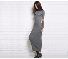 Knitted Cashmere Pullovers Turtleneck Sweater Dress  Sale price $86.98