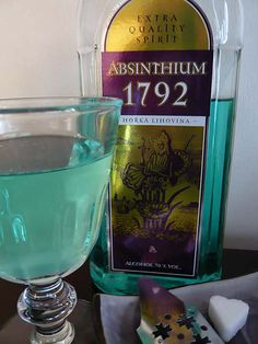 Some absinthes are not actually green, due in large part to the number of absinthes which are artificially dyed during distillation. Absinthe can be just about any color of the rainbow! Be warned, however: unchanged absinthe is either naturally A) green or B) clear.
