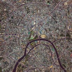 Moscow Rings Moscow, Russia - photo by dailyoverview  (7/07/15);  Moscow is the capital and largest city in Russia with 12.2 million residents. The city is organized into five concentric transportation rings that surround the Kremlin. The two innermost rings are seen here.