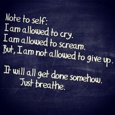 I can get emotional under stress: I need to learn to just breathe (While I'm screaming inside)...