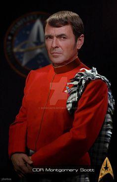 Montgomery Scott formal dev by Watch Star Trek, Star Trek 1, Star Trek Spock, Star Trek Original Series, Star Trek Series, Star Trek Enterprise, Chris Pine Movies, Montgomery Scott, Scotty Star Trek