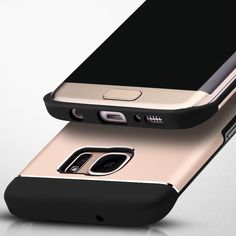 The inner of the case is made of Silicone and the back is metal. There are 4 color for your s7 edge, Gold, Silver, Rose gold, Grey.