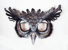 Eagle Owl Leather Mask by LibertiniArts on Etsy