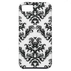 Black And White Damask iPhone 5 Cases