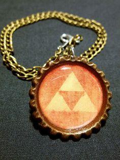 Triforce Legend of Zelda Link Necklace by Monostache on Etsy, $10.00