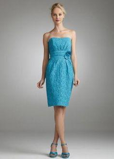 Malibu blue dress with daisy accent.