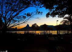 Late afternoon on the Lagoon - Rodrigo de Freitas Lagoon is a lagoon in the district of Lagoa in the Zona Sul (South Zone) area of Rio de Janeiro. The lagoon is connected to the Atlantic Ocean,