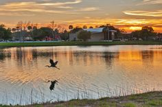 A great shot by Kay Keys of sunset over St. Augustine, Florida, from the grounds of Mission of Nombre de Dios.