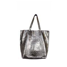 NEW! | 'Monte' Metallic Weekender Tote, $63. #dressmingle #metallic #obsessed #gunmetal #smokeymetallic #tote #carryall