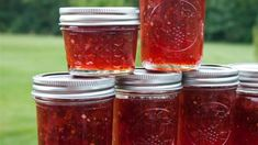 A beautiful strawberry jam with a hint of champagne makes a tasty gourmet gift for the holiday season!