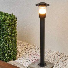 Svart LED-gatelampe Anouk av rustfritt stål-Gatebelysning LED-9988053-22