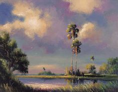 "Own an old ""Highwaymen"" painting. My dream one is Jumping The Broom, by Isaac Knight Vintage Florida, Old Florida, Florida Travel, African American Artist, American Artists, Tropical Art, Florida Living, Sunshine State, Wildlife Art"