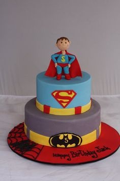 Super Heroes Cake  Cake by PamAGK