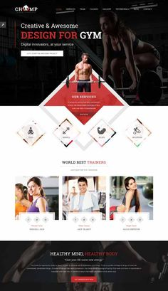 Free U0026 Premium Fitness Website Templates Are Designed Mainly For Fitness  And Gym Sport Club Website  Fitness Templates Free