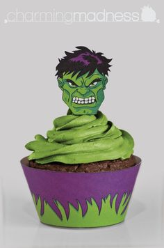 The Hulk (Version 2) Cupcake Wrappers  Toppers by CharmingMadness
