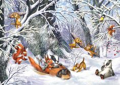 Кто верит сказкам в рождество... Художник-иллюстратор Zorina Baldescu. Обсуждение на LiveInternet - Российский Сервис Онлайн-Дневников