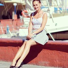 grey, skirt, grey skirt, crop top, high heels, miau´s life, miauslife