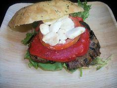 Open grilled vegetable sandwich