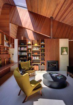 Australian modernist house danish interior - studio