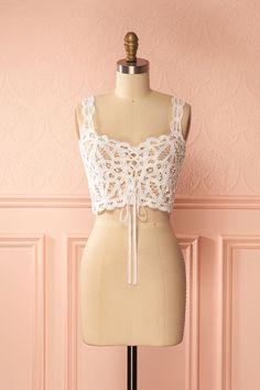 Birdie Day White Crochet Crop Top | Boutique 1861