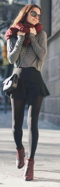 Grey Retro Inspired Loose Shorts #It Girl