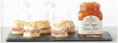 Ham Stuffed Biscuits with Hot Pepper Peach Jam Spread ♥ Stonewall Kitchen