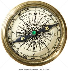 Antique Compasses Vintage | Vintage Compass Studio Isotaion On White Background. Stock Photo ...