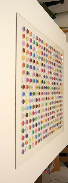 paint chip art- colorful, simple and free to collect!You can find Paint chip art and more on our website.paint chip art- colorful, simple and free to collect! Paint Chip Art, Paint Chips, Paper Art, Paper Crafts, Diy Crafts, Diy Wall Art, Diy Art, Hm Deco, Showroom Design