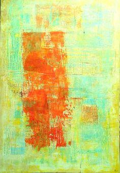 """""""Caminos rojos"""" Mixta Sobre madera 221 x 150 cm 2015. Vendido"""