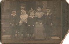 Cabinet Photo Victorian Family Sailor Outfits Fashion - St Helens Lancashire