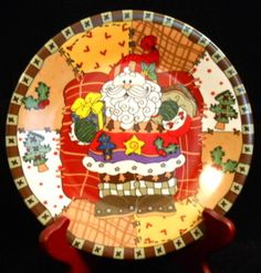 Santa Claus Serving Plate ~ quilt/stitch pattern