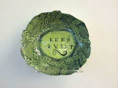Ruan Hoffmann - a group of ceramic word plates - iArt