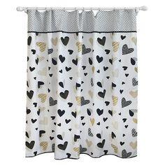 Heart Shower Curtain Blackberry Frost - Pillowfort™ : Target