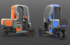 TechCracks | FollowMe Postal Delivery Services Vehicle Concept by ...