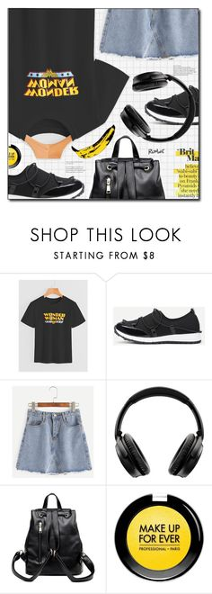 """""""wish list"""" by meyli-meyli ❤ liked on Polyvore featuring Bose, MAKE UP FOR EVER, Andy Warhol, romwe, contestentry and polyPresents"""