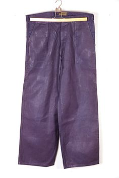 1930's Le Chaland french indigo linen pants