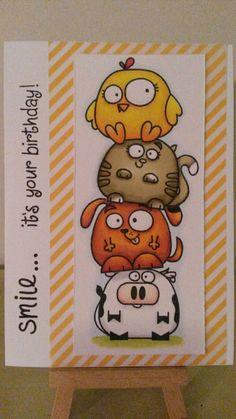 Paper Smooches - Chubby chums Owl Punch, Punch Art, Handmade Birthday Cards, Handmade Cards, Mini Canvas Art, Paper Smooches, Heartfelt Creations, Penny Black, Hero Arts