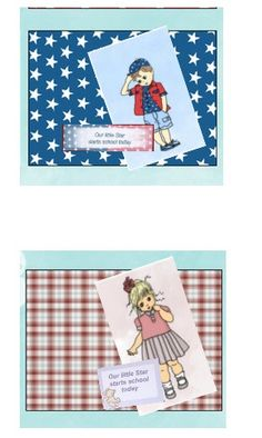 Boy and Girl Little Star Cards by Sheila Weaver