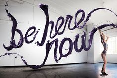 Be Here Now by Stefan Sagmeister Stefan Sagmeister, Sagmeister And Walsh, Cool Typography, Typography Letters, Typography Design, Hand Lettering, Typography Served, Lively Letters, Typographie Inspiration