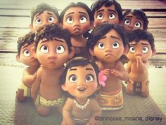 Baby Moana and her friends