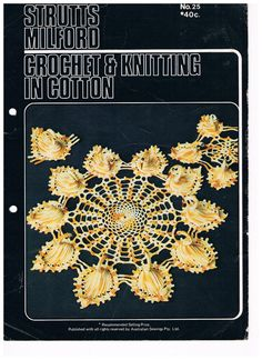 Vintage Crochet Pattern  Swan Doilies by SparrowFinds on Etsy